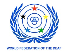 logo for World Federation of the Deaf