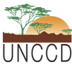 logo for Secretariat of the United Nations Convention to Combat Desertification
