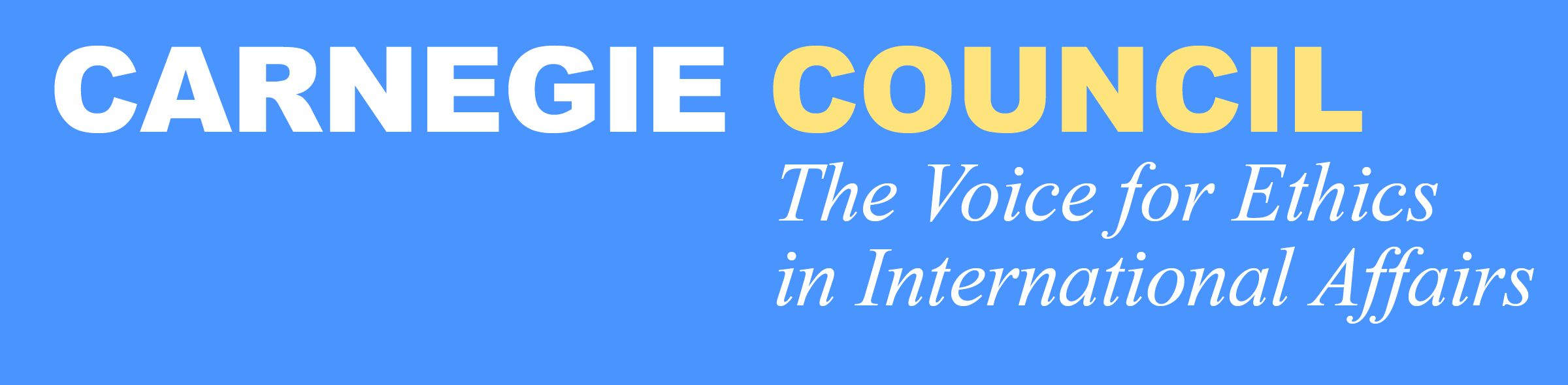 logo for Carnegie Council for Ethics in International Affairs