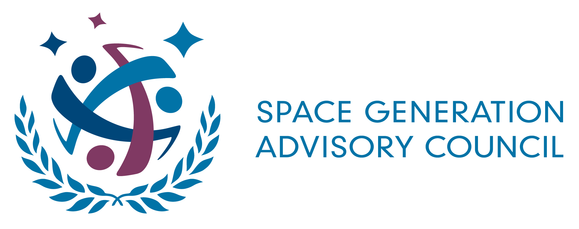 logo for Space Generation Advisory Council in Support of the United Nations Programme on Space Applications