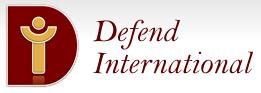 logo for Defend International