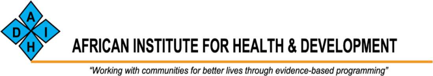 logo for African Institute for Health  and  Development