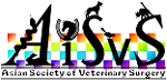 logo for Asian Society of Veterinary Surgery