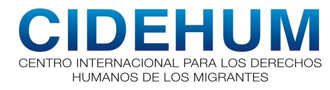 logo for Centro Internacional para los Derechos Humanos de los Migrantes