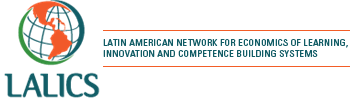 logo for Latin American Network for Economics of Learning, Innovation and Competence Building Systems