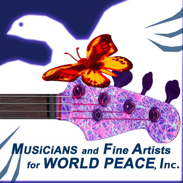 logo for Musicians and Fine Artists for World Peace