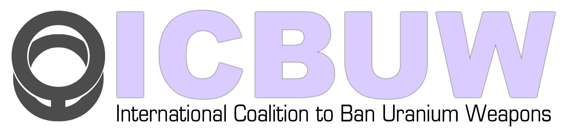 logo for International Coalition to Ban Uranium Weapons